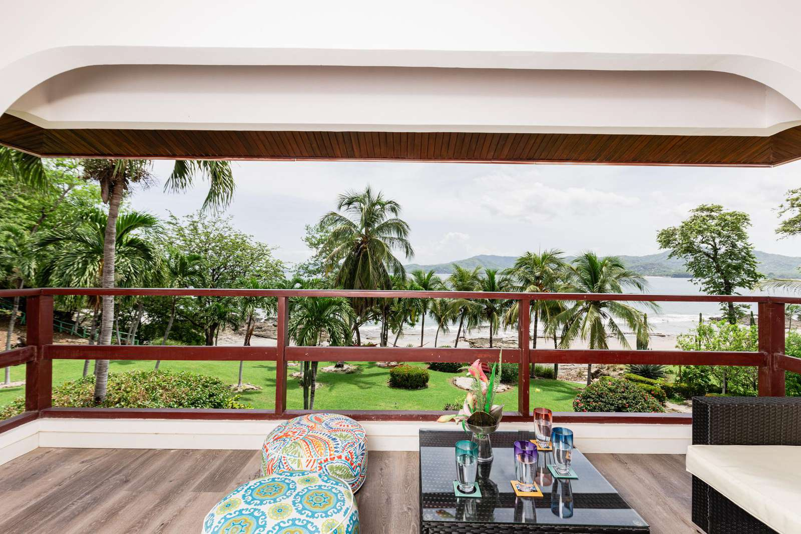 Beachfront location with private balcony