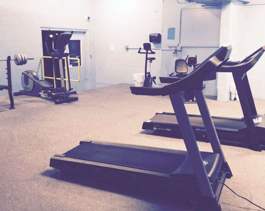 fitness room located on the property in our building