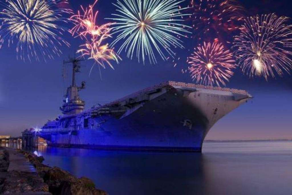 USS Lexington on the 4th of July