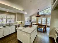 Beautiful kitchen with soaring ceilings thumb