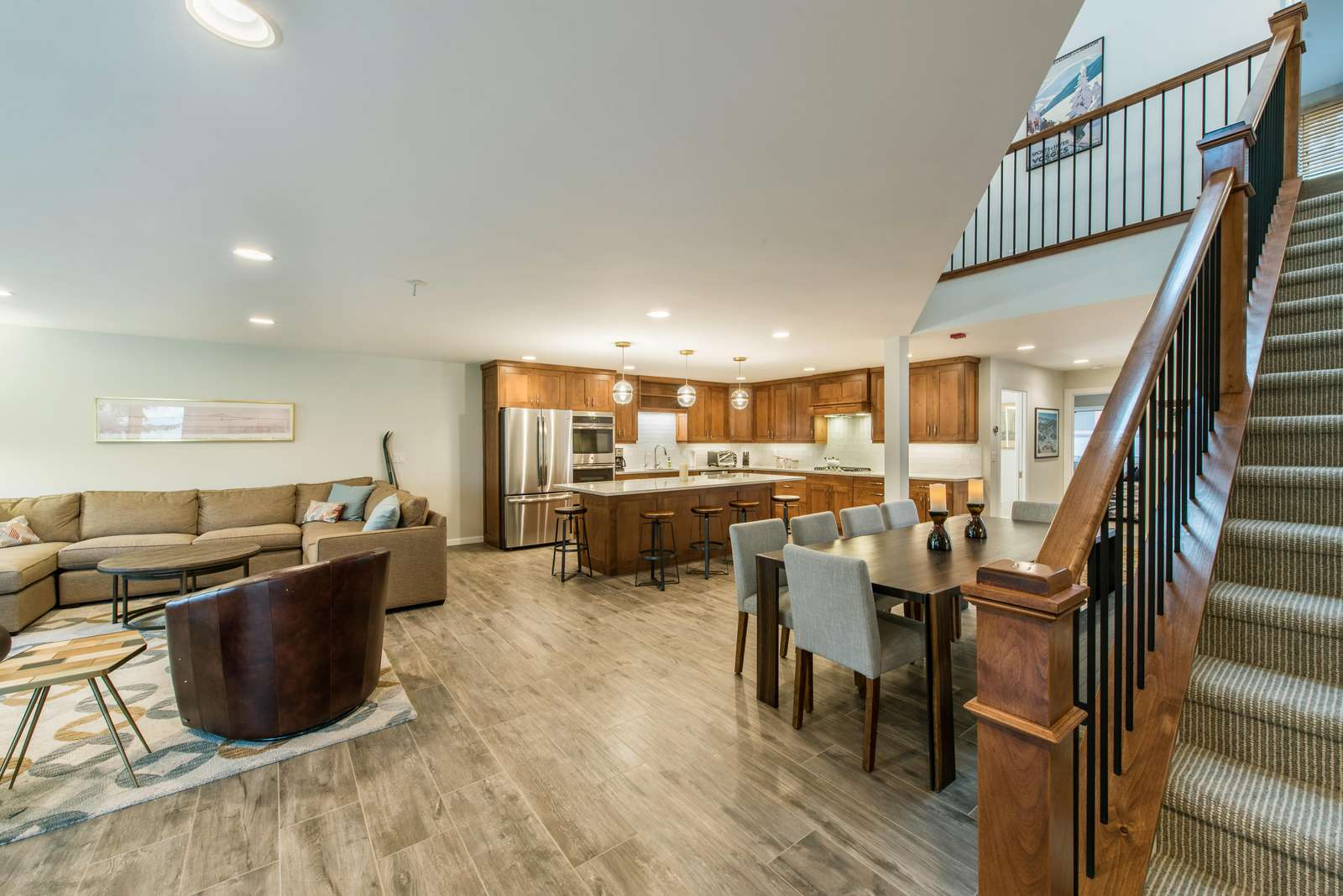 Perfect open living and kitchen for your gatherings