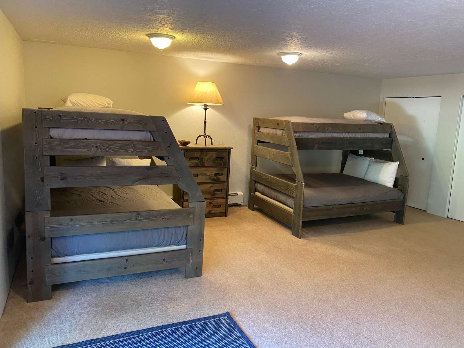 Lower beds are full size mattress