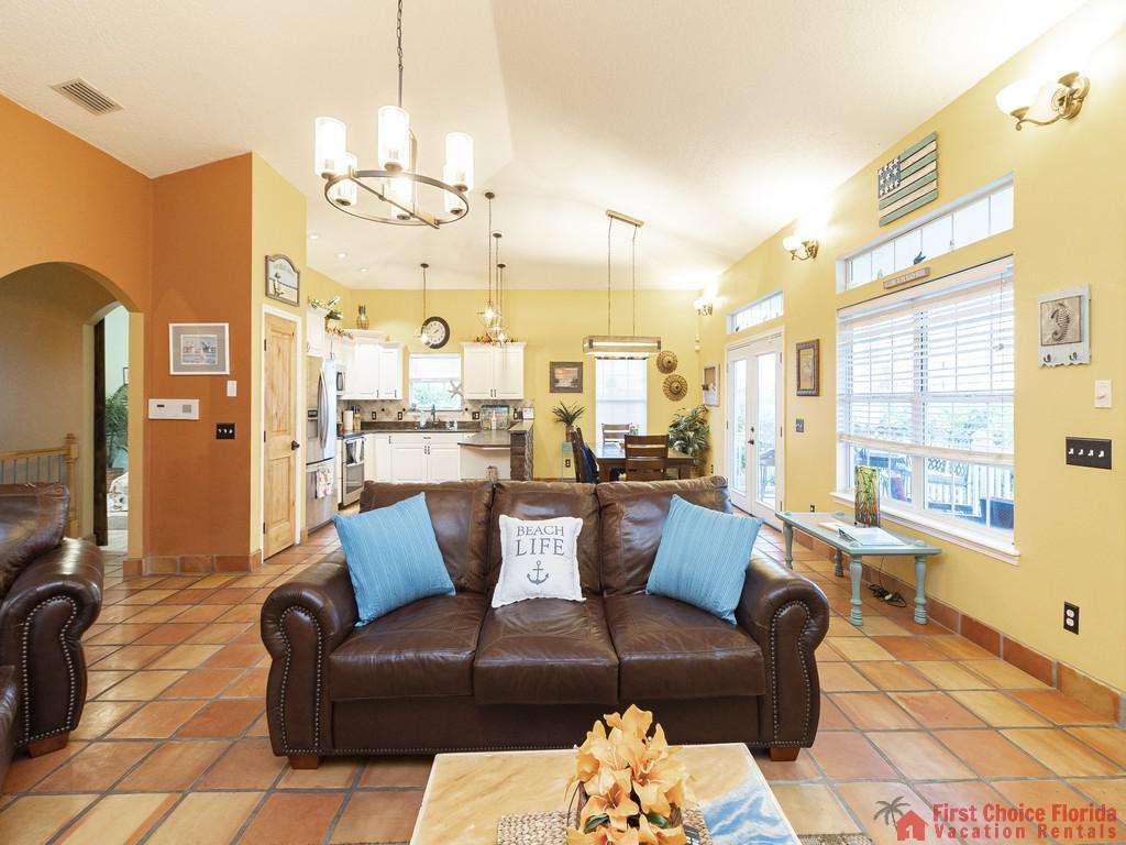 Coastal Hideaway Living Room and Dining Room