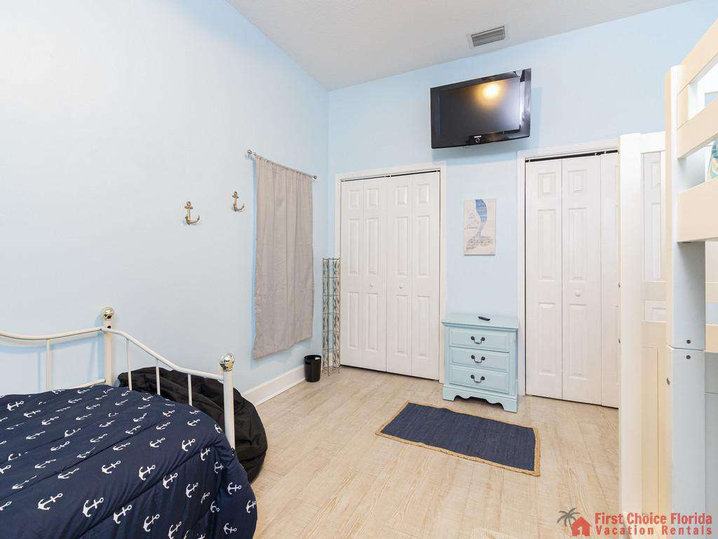 Coastal Hideaway Guest Room with Closets