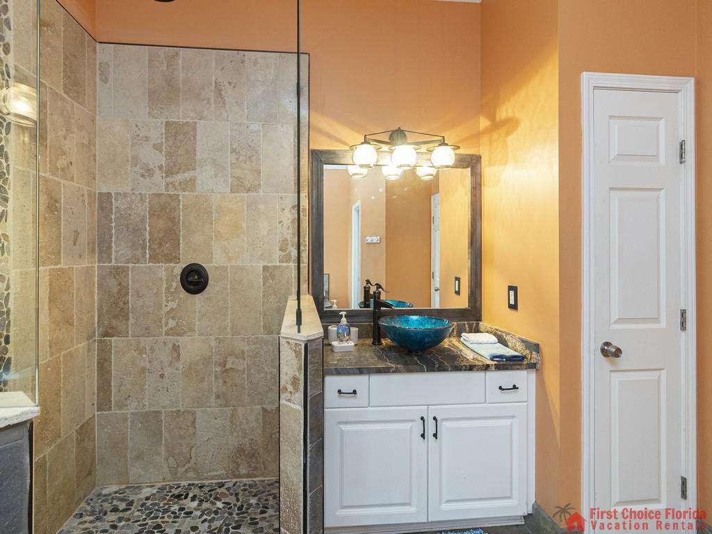 Coastal Hideaway Master Vanity and Shower
