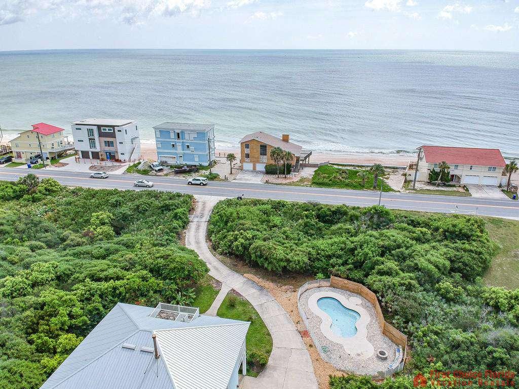 Coastal Hideaway Aerial Beach View