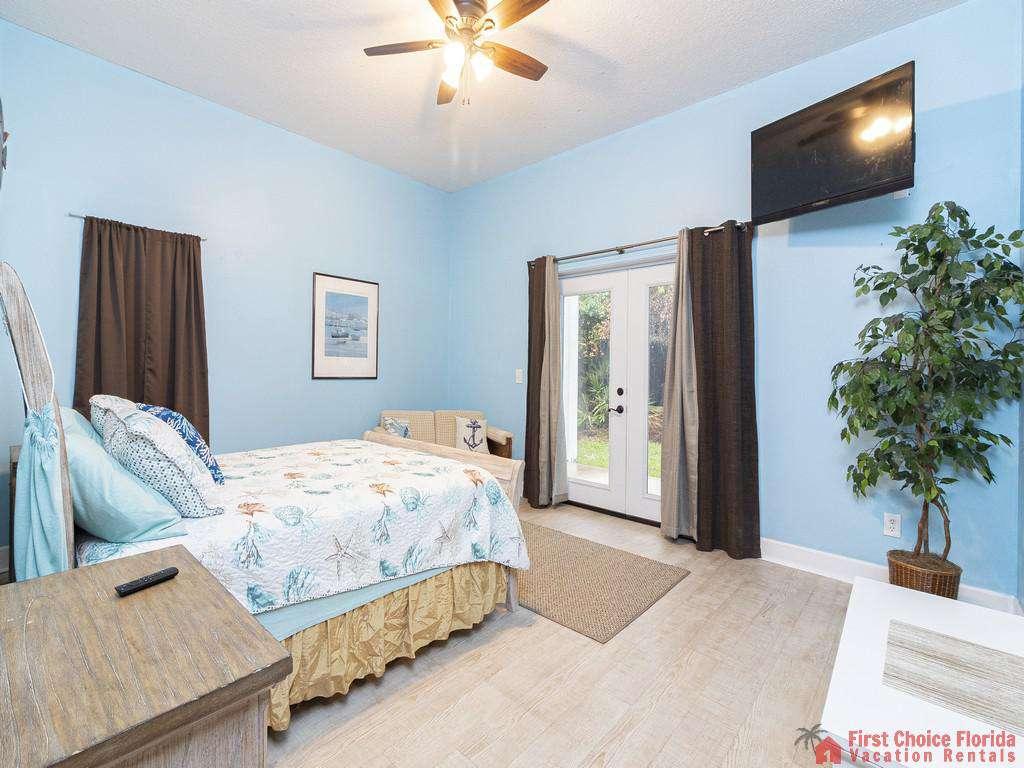 Coastal Hideaway Bedroom with TV