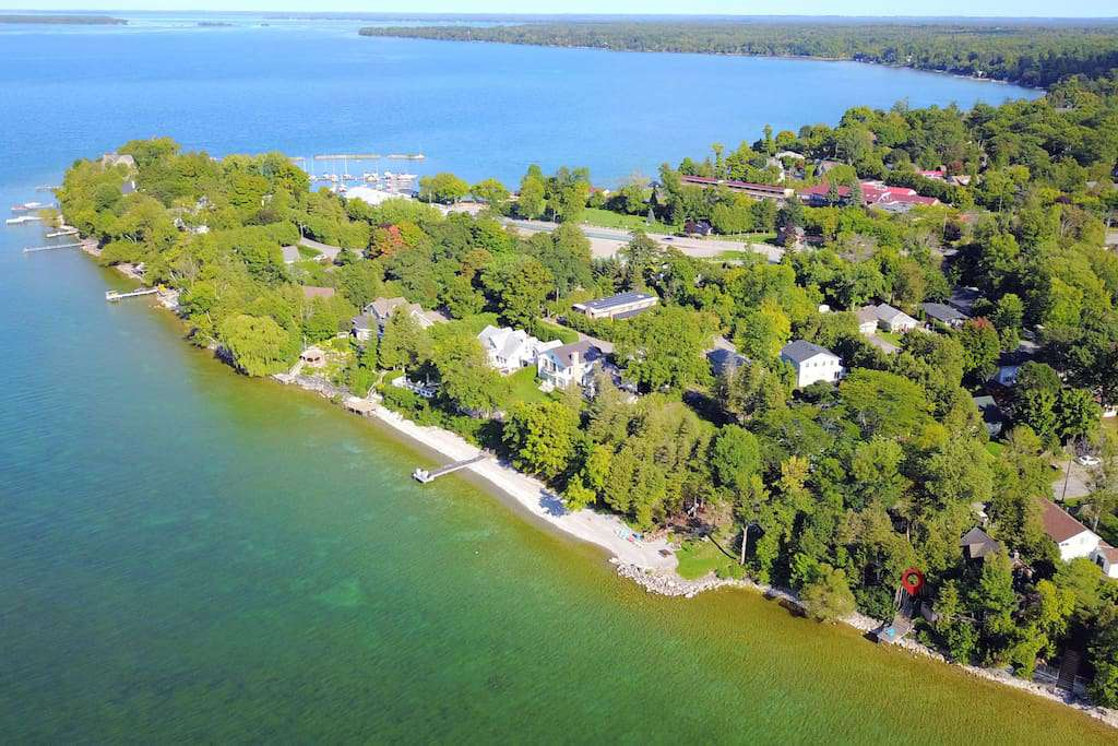 resort overhead view