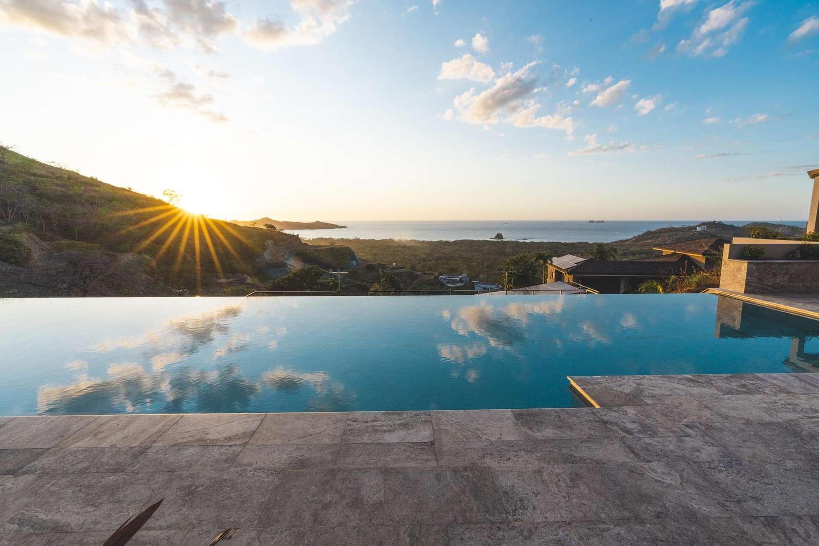 Private infinity edge lap pool - property
