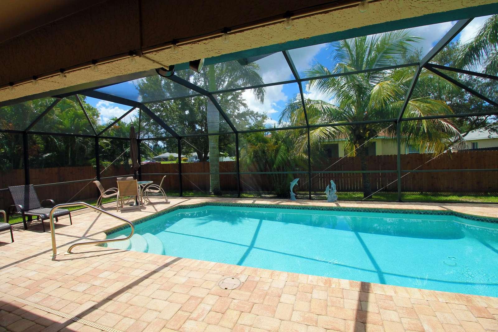 heated saltwater pool - property