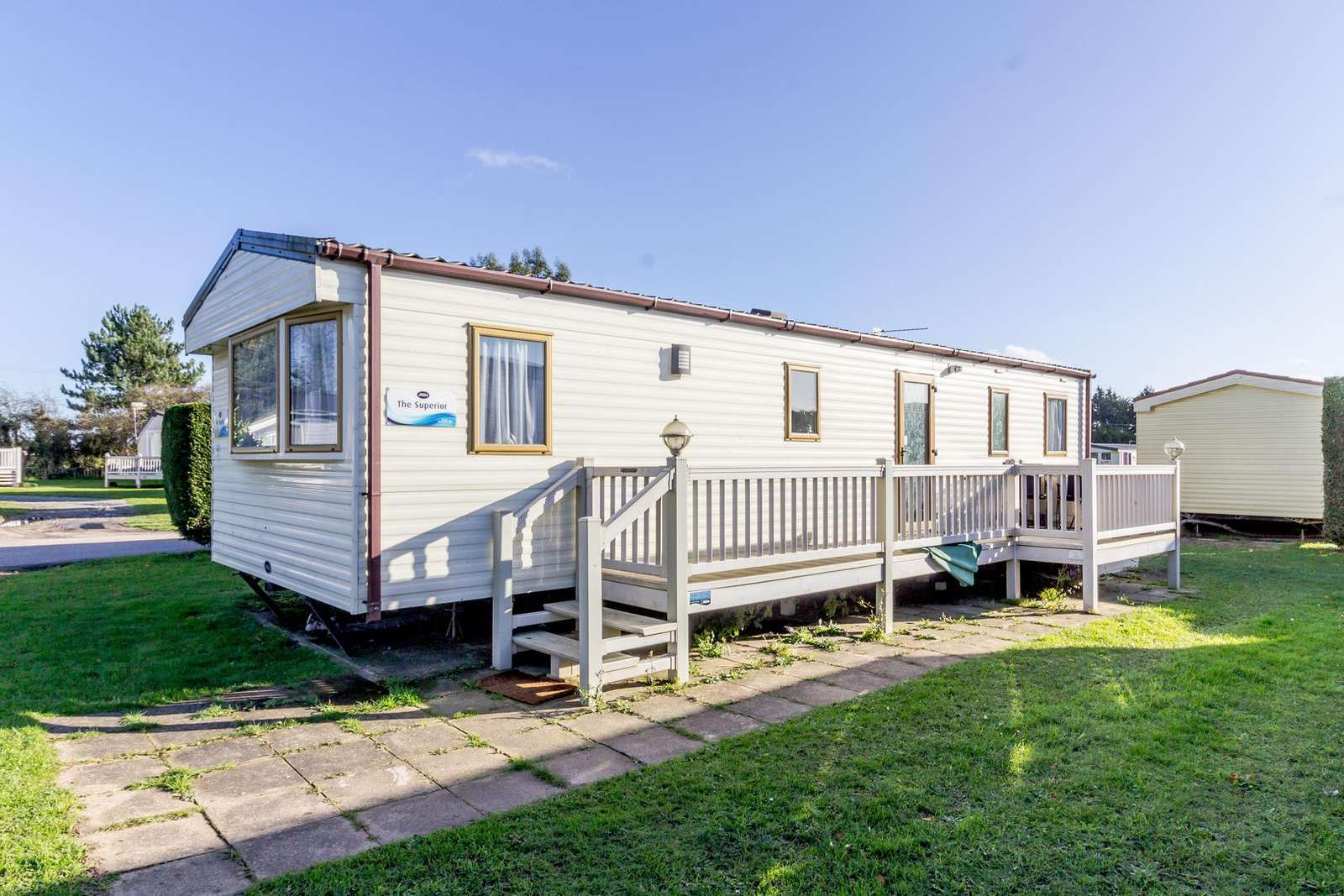 10035B – Bure Village, 3 bed, 8 berth caravan with D/G & C/H. Ruby rated. - property