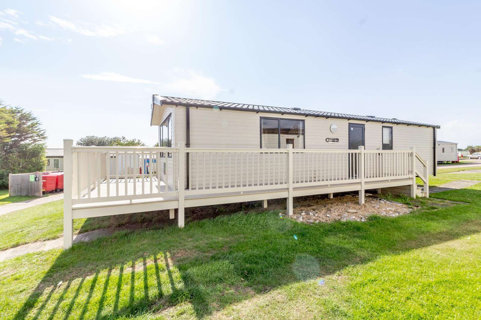 90003DW – Drifter Way, 3 bed, 8 berth caravan with decking. Diamond rated. - property