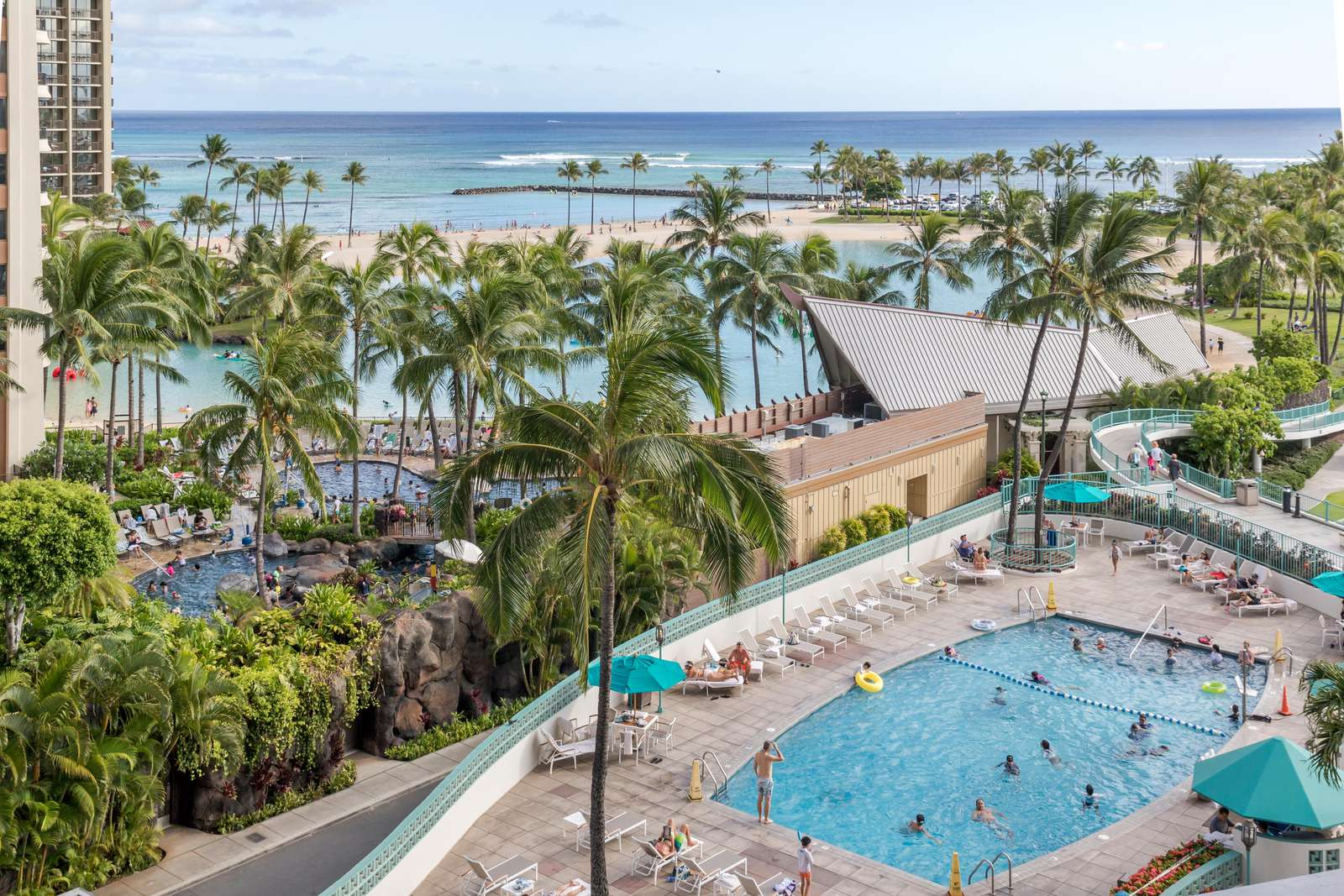 View of main pool from room