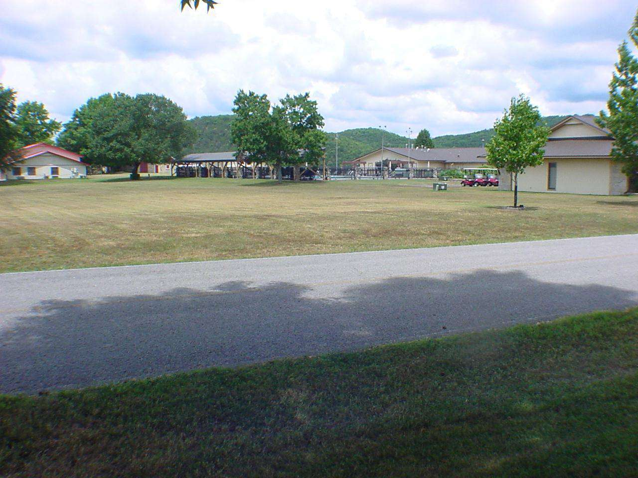 View of the rec center across the street