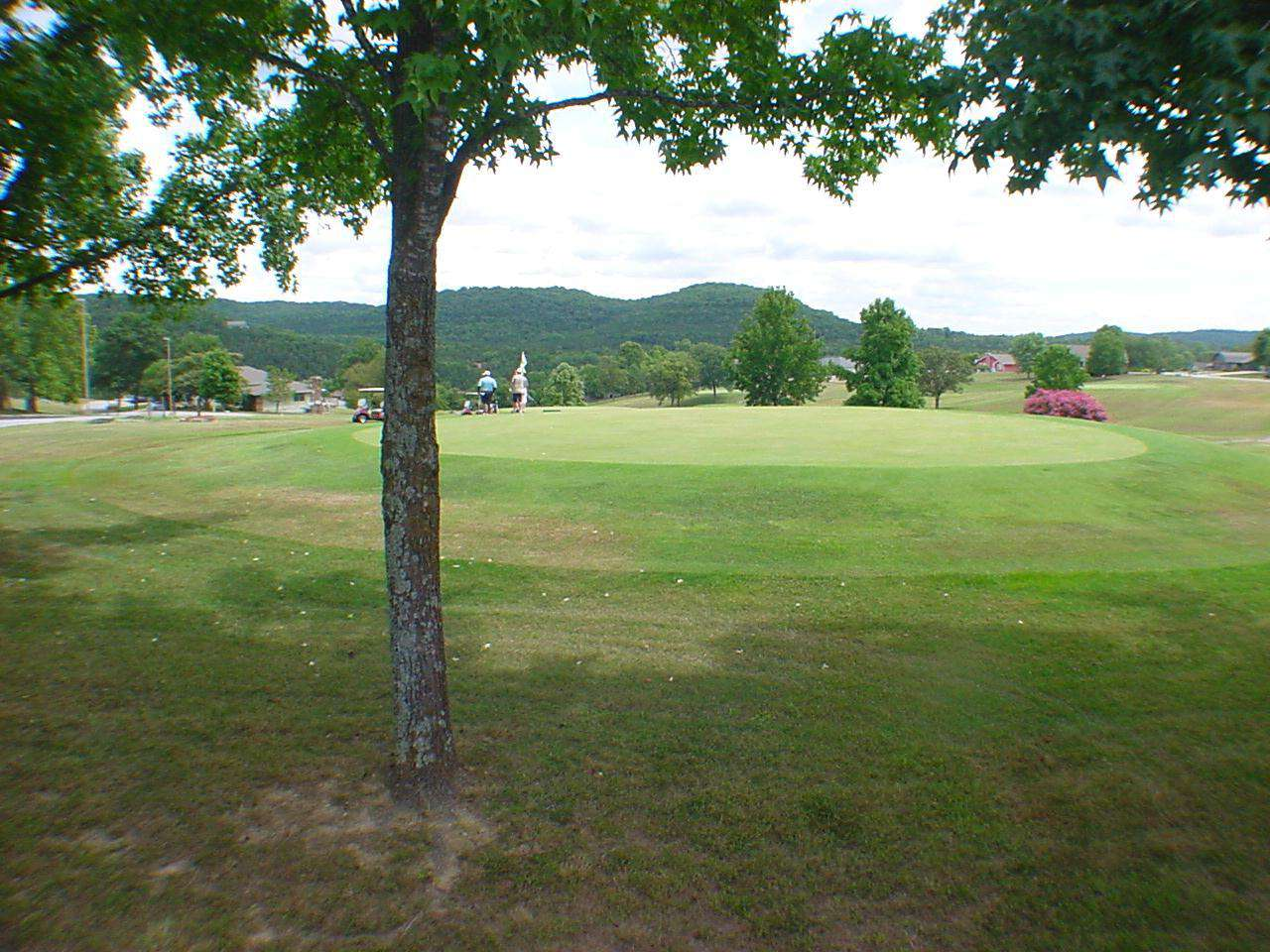 View of golf course from the deck