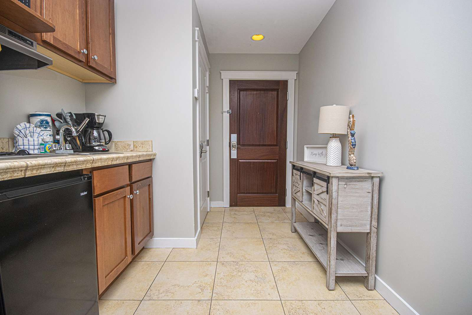 This private spacious studio is clean and stocked!
