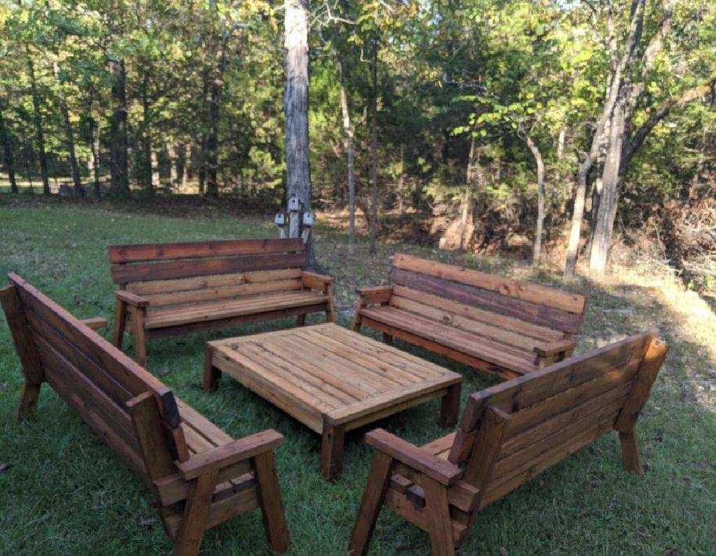 Handmade yard furniture