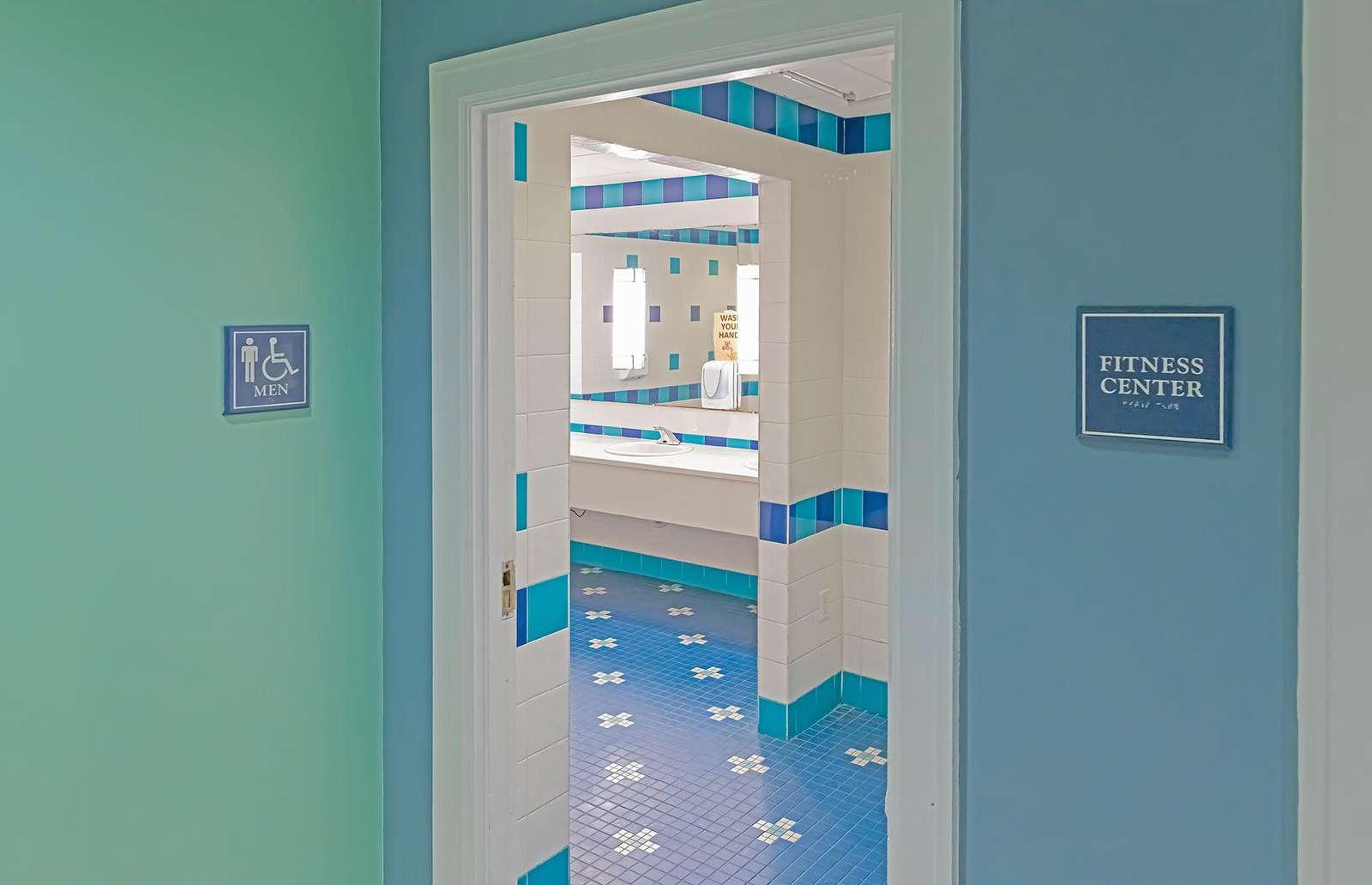 Public bathrooms throughout!