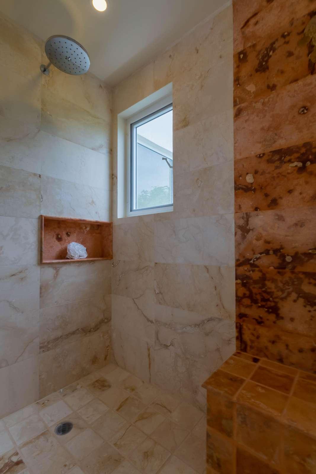 Master Bathroom His/Her Shower