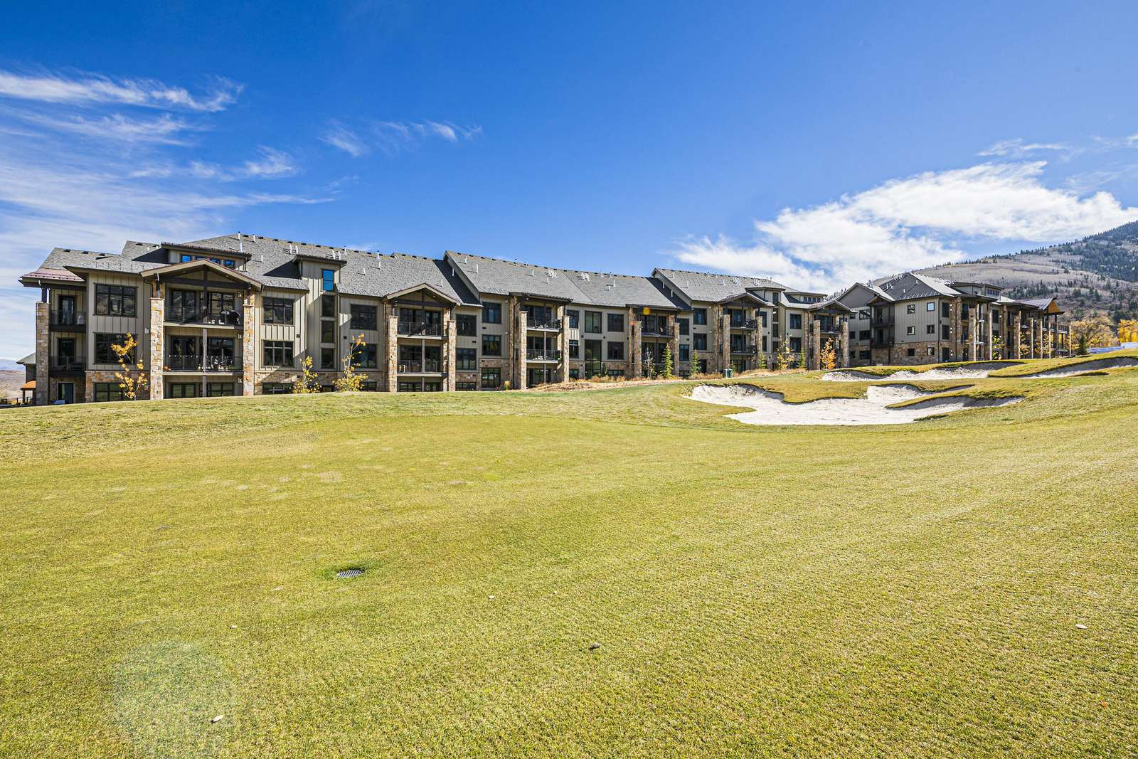 The condo sits along the 13th fairway of the Canyons Golf Course