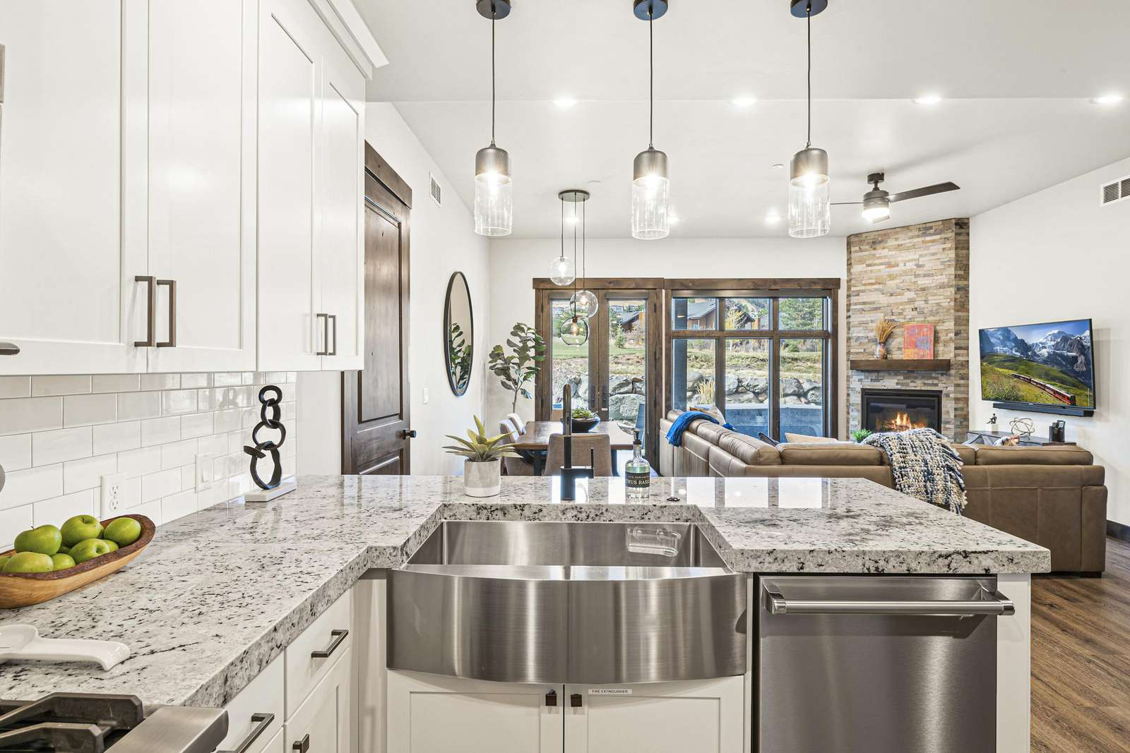 Kitchen view of the 13th fairway of Canyons Golf Course