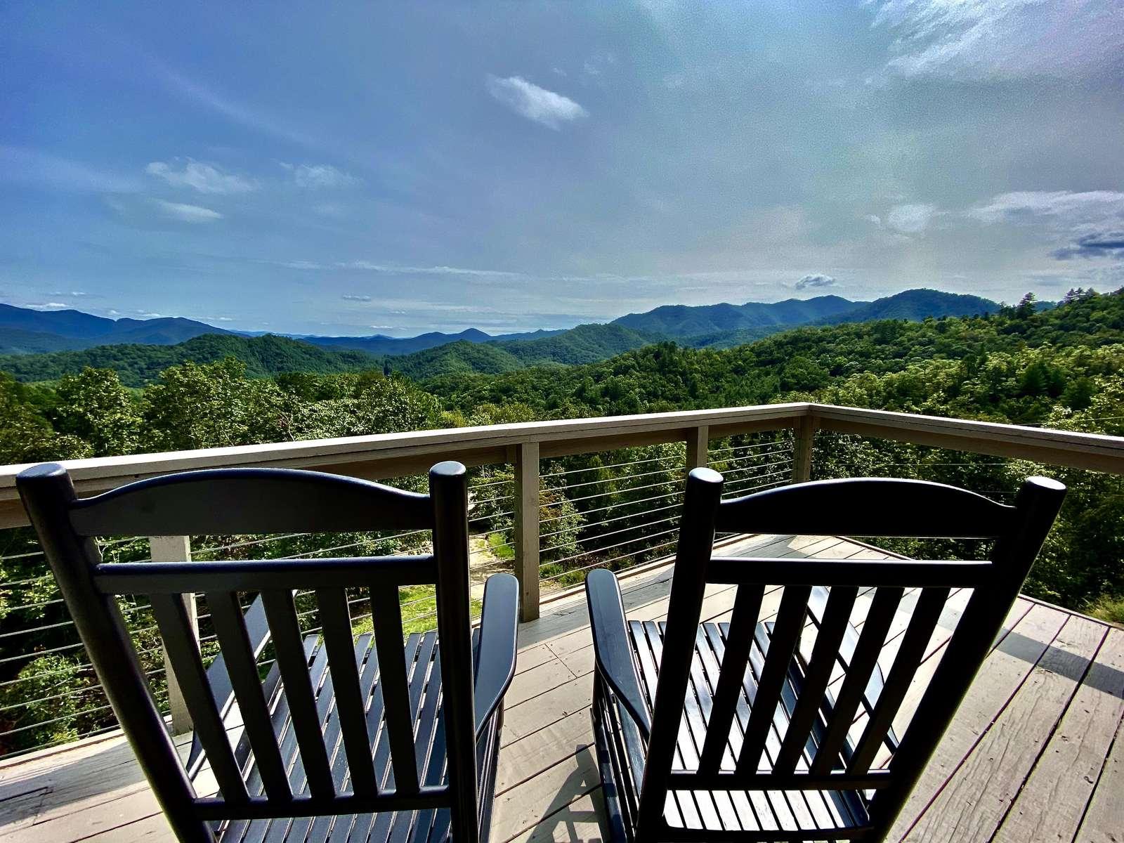 Enjoy the Long Range Mountain Views - We saved your seat