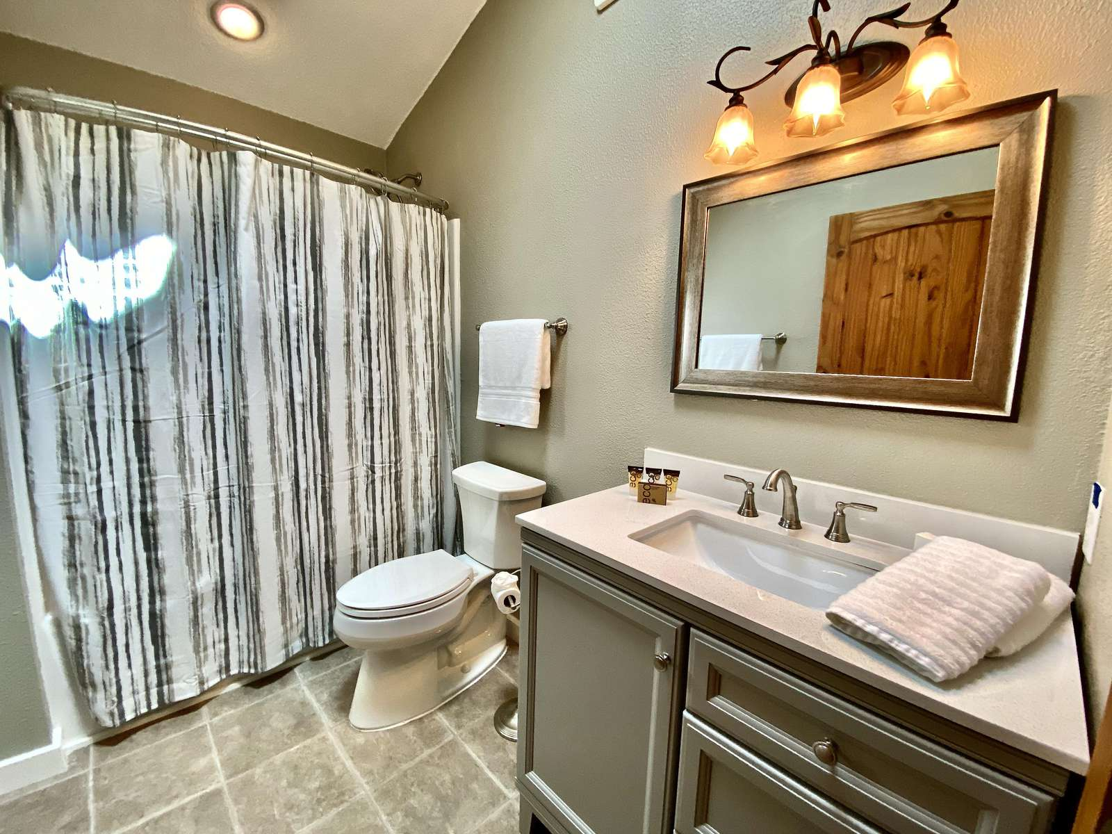 Guest Bathroom with a Shower/Tub Combo