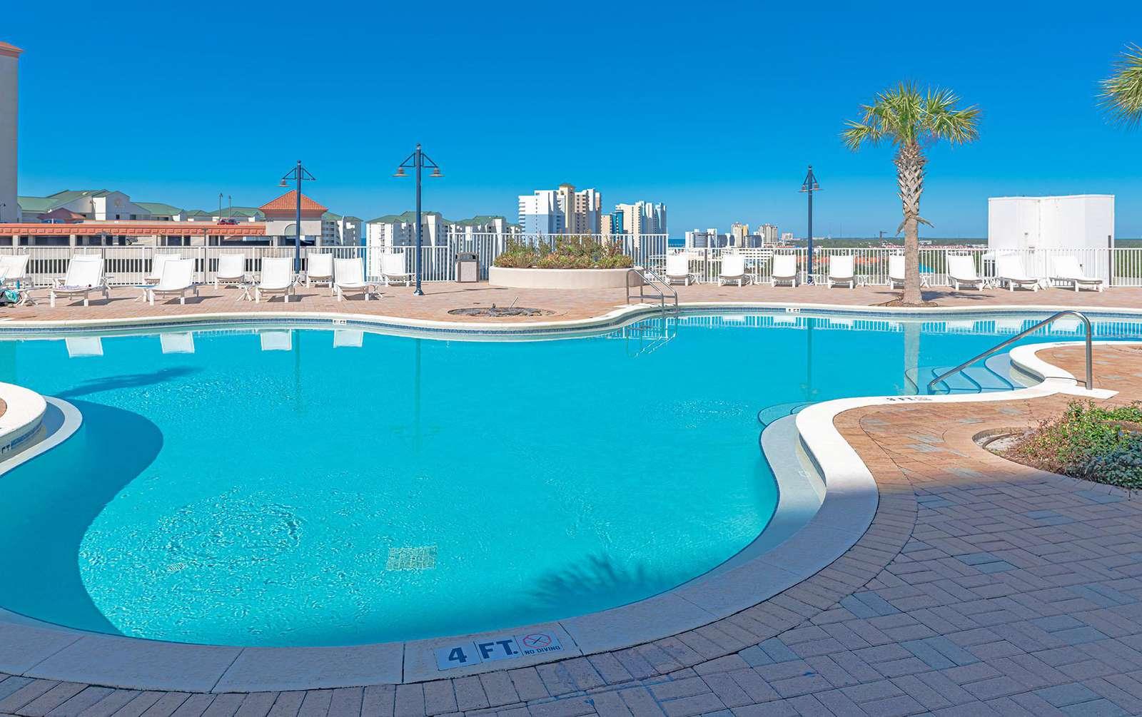 Spacious and seasonally heated top deck pool!