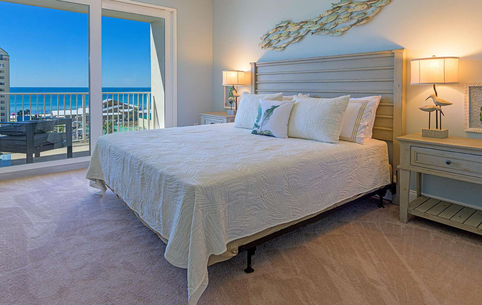 The master bedroom offers great views and balcony access!