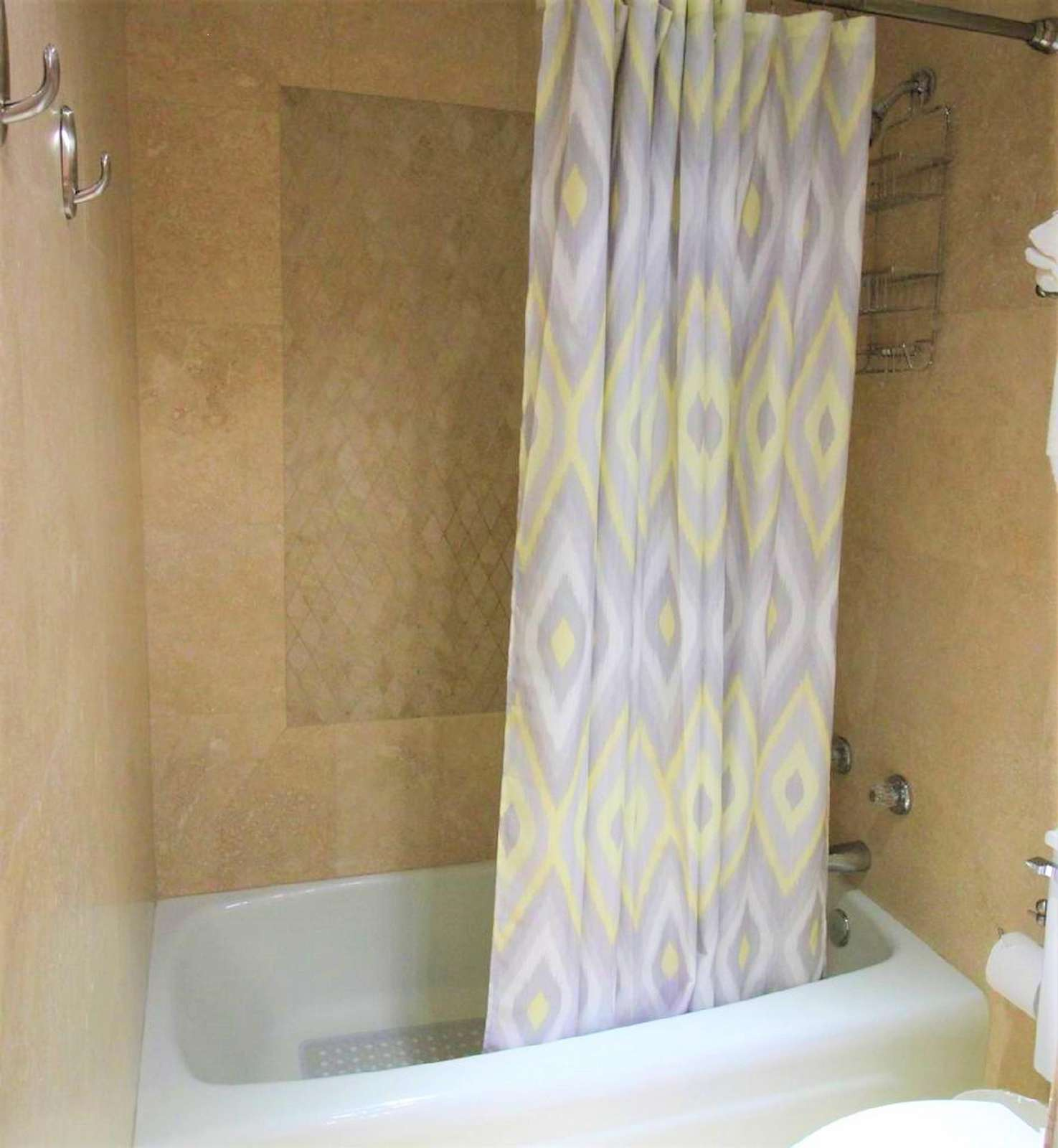 Tub and Shower in Bedroom
