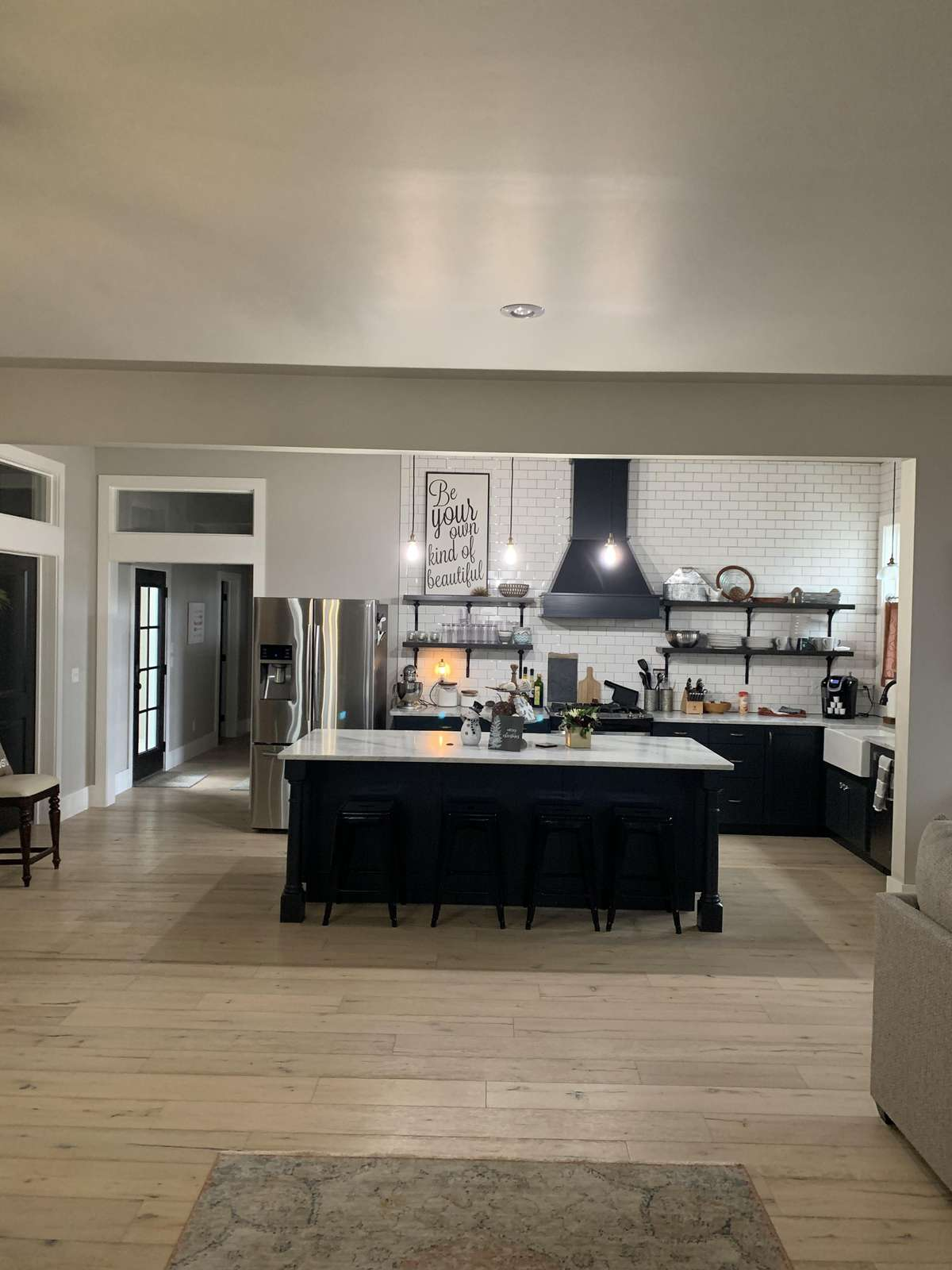 Open Concept Living/Dining/and Kitchen