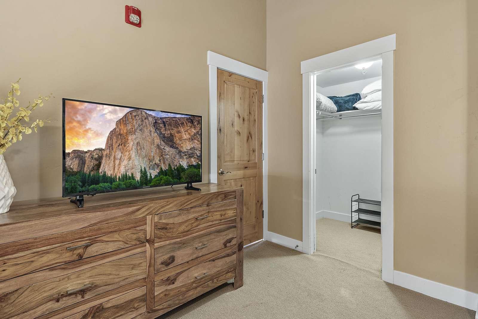 Walk in closet for master bedroom