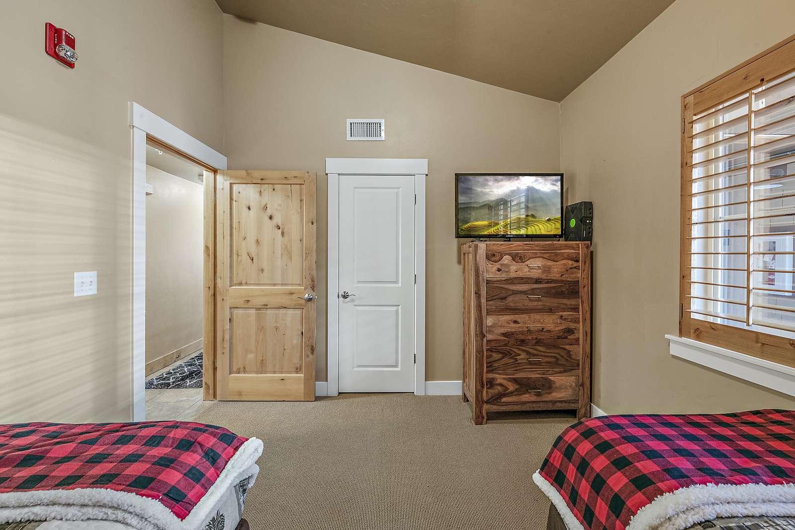Closet space with dresser