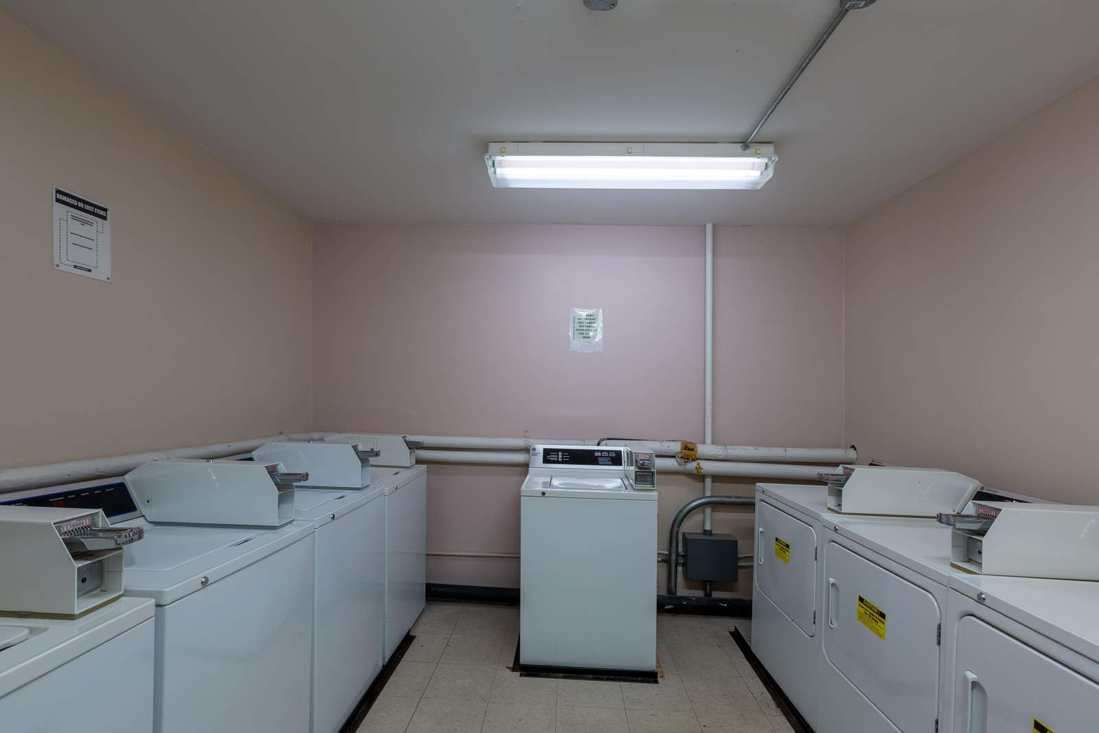Communal washer and dryer area