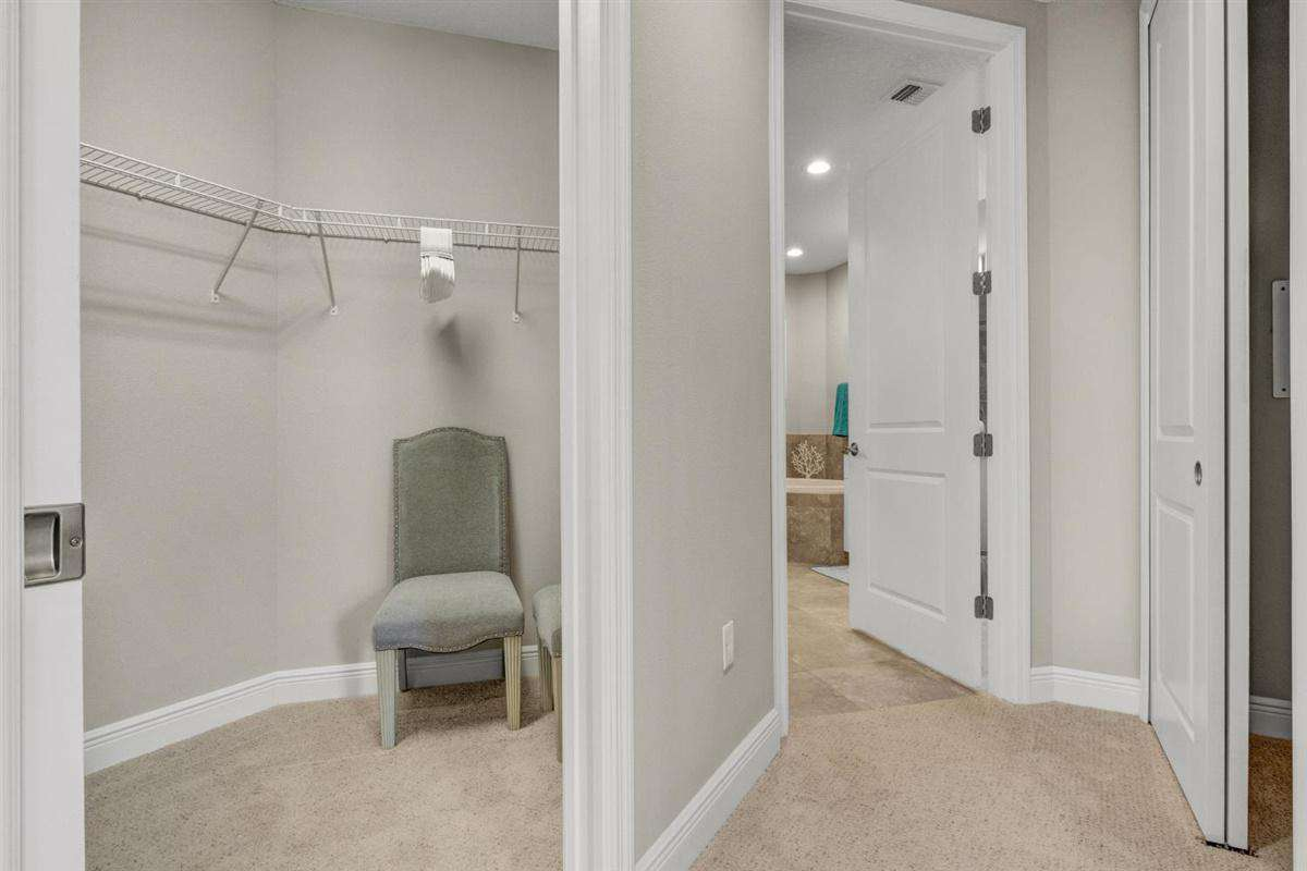 walk in closet in owner's suite