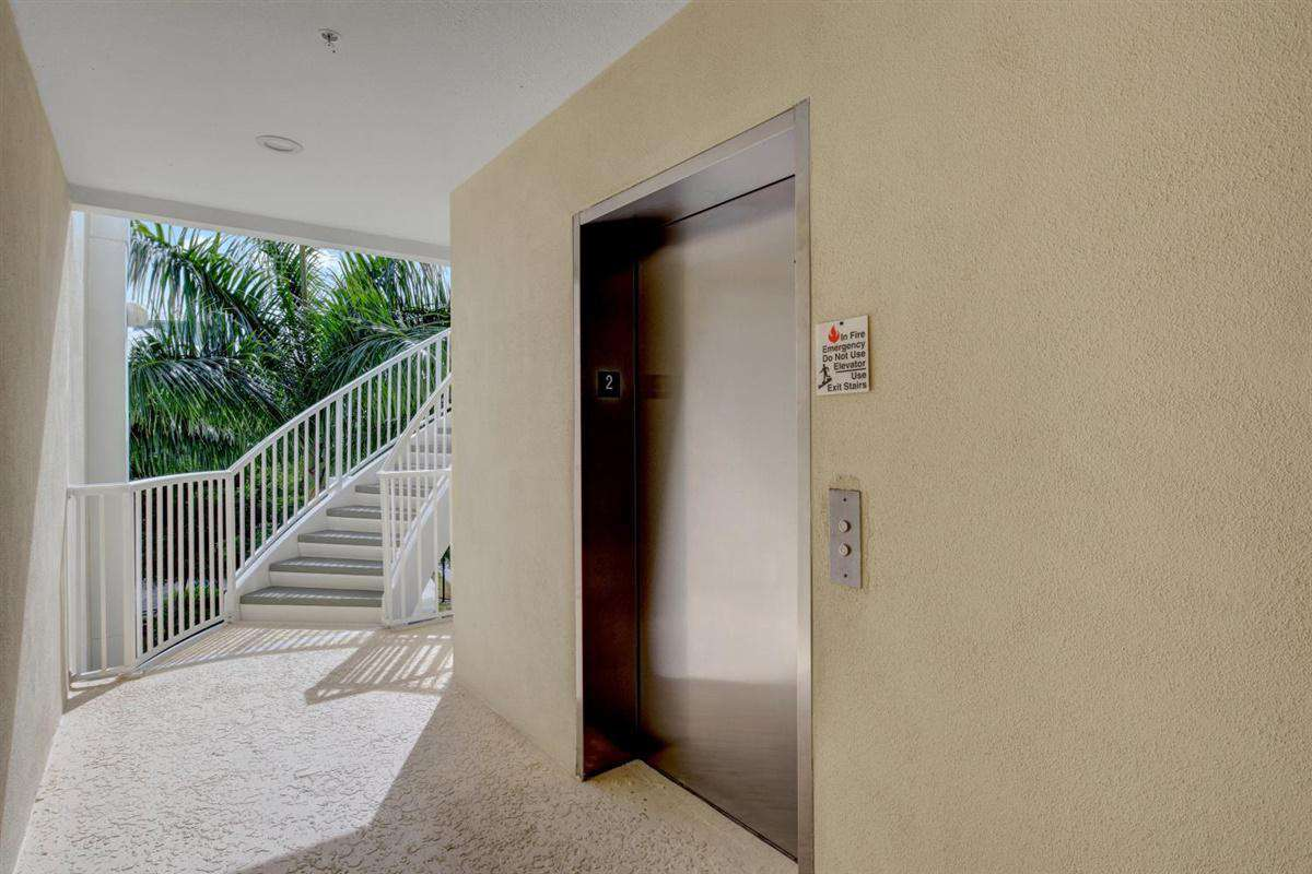 Take the elevator or the stairs up to the condo