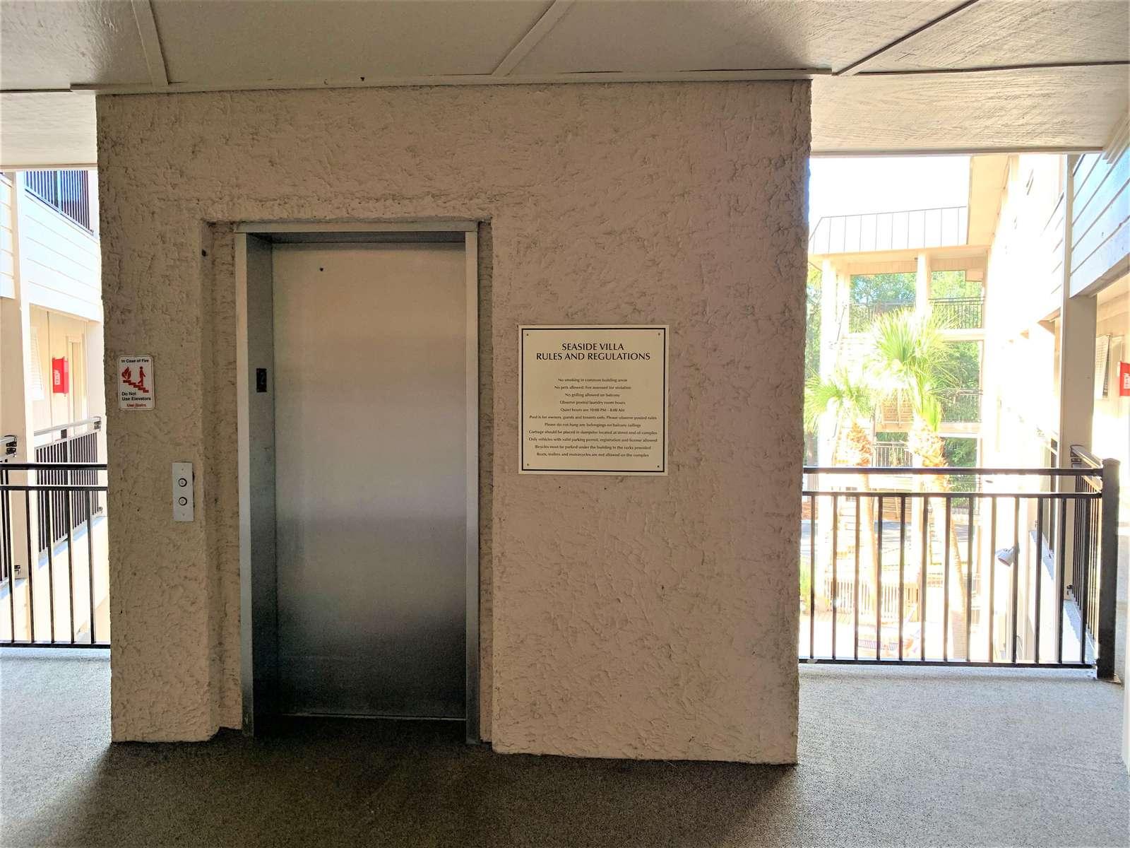 Elevator close to condo