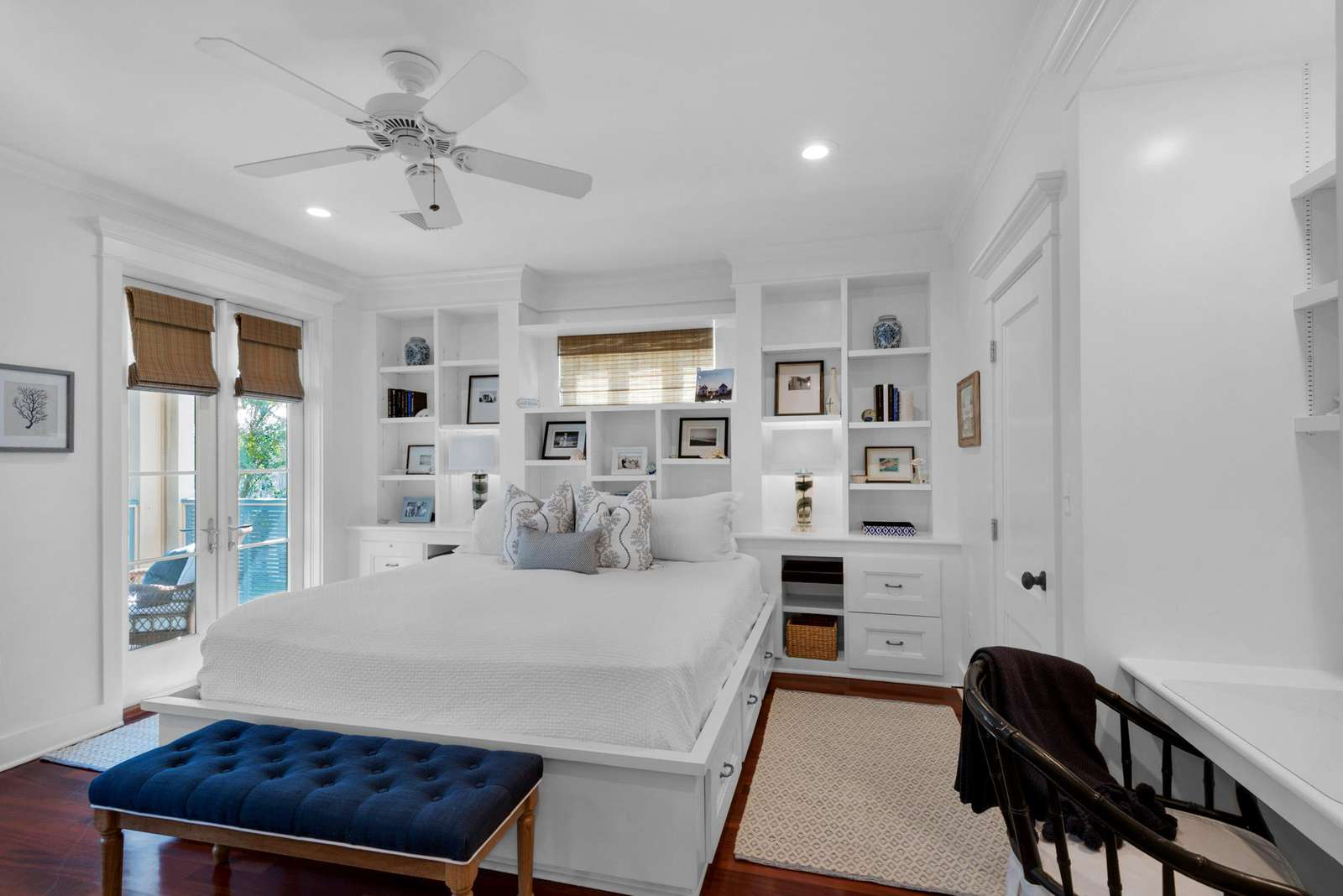 Master Bedroom with Outside Balcony.