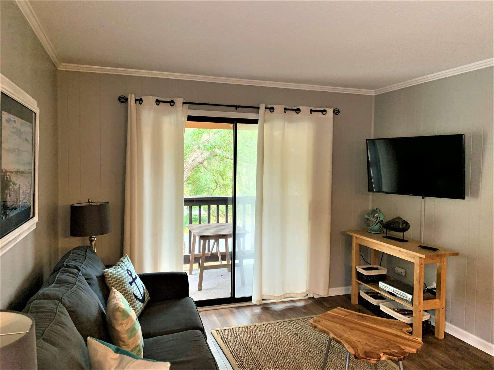 Flat Screen Smart TV in Living Room
