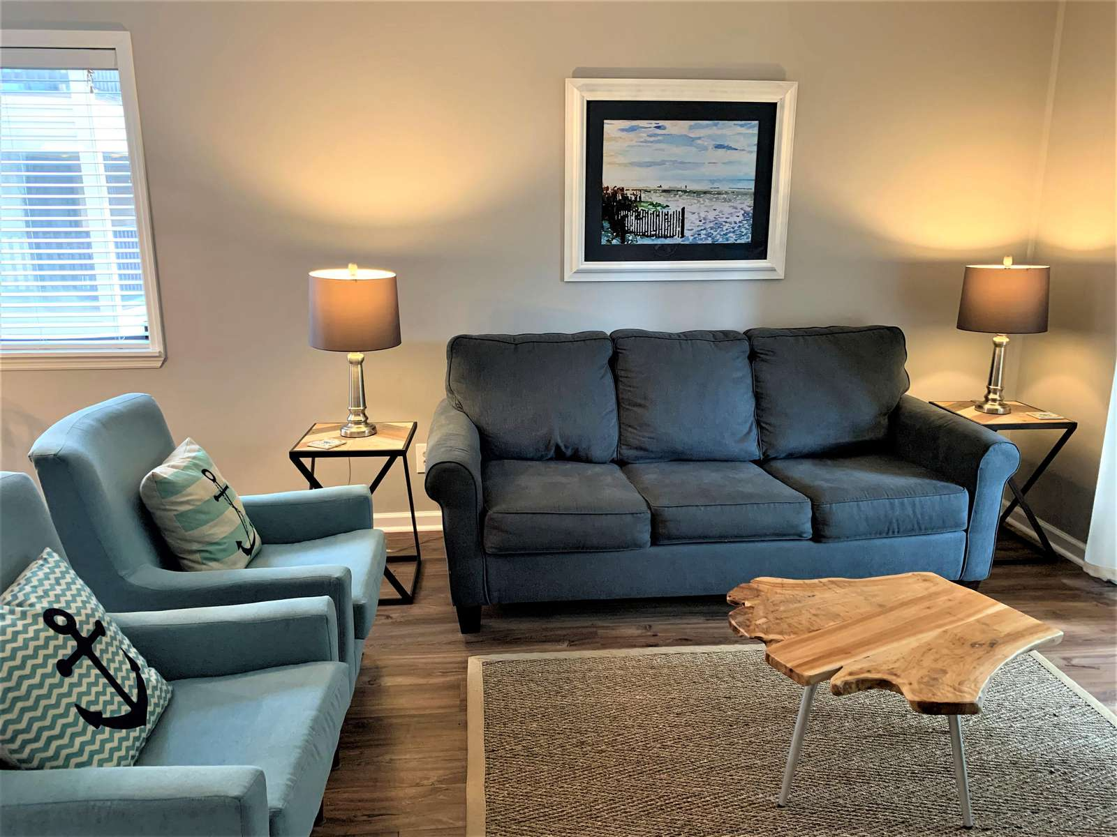 Pull out sofa and Plenty of Seating in Greatroom