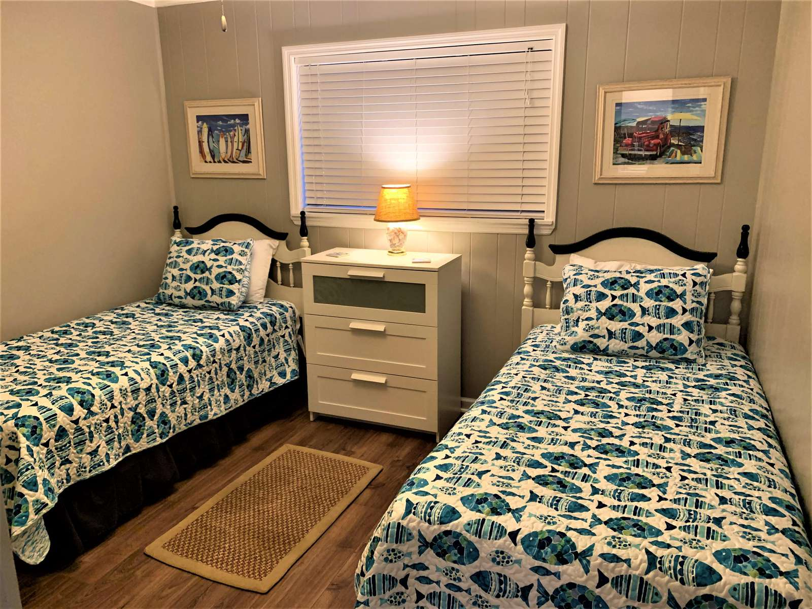 2nd Bedroom with Twins or push together for a couple
