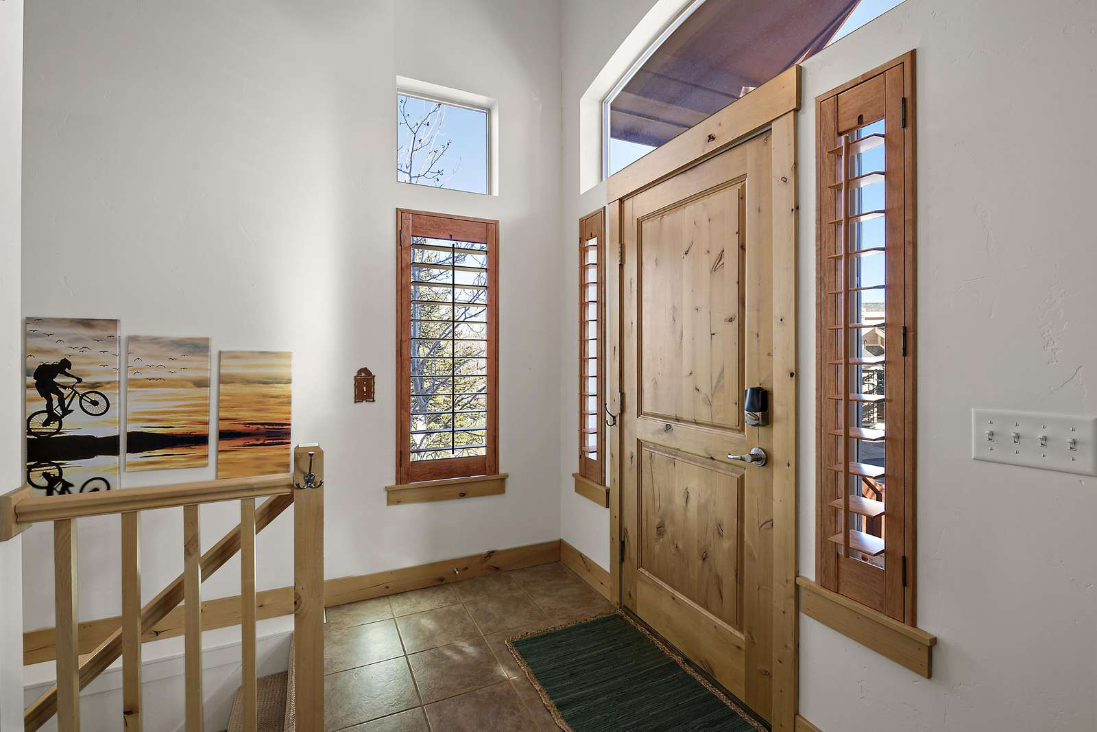 Private front door entrance