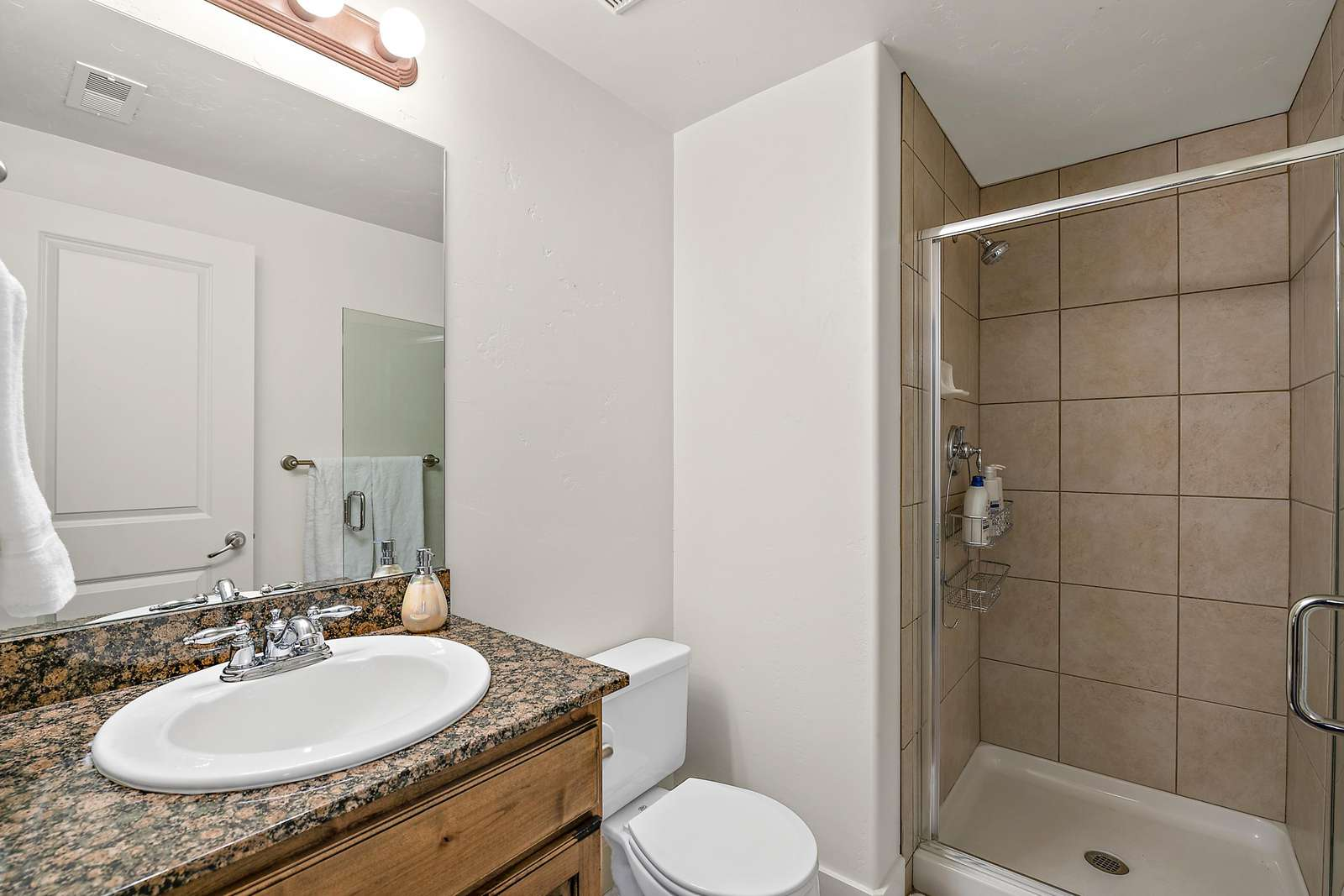 Guest bathroom with standing shower