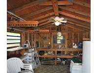 The Boat House has plenty of storage area to keeo your fishing and dive gear safe thumb