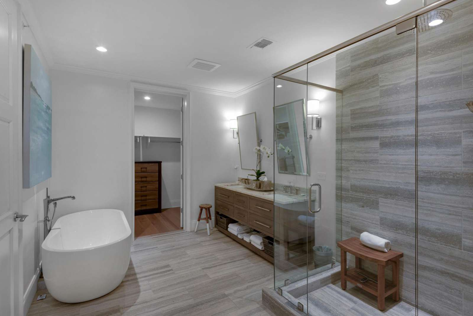 Master ensuite-double vanity sinks-soaking tub-larger walk-in shower