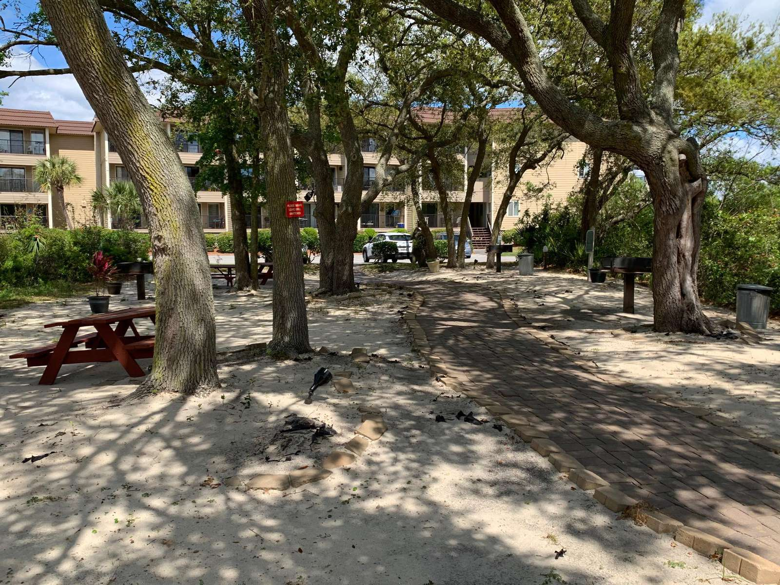 Picnic areas with Charcoal Grills at the resort