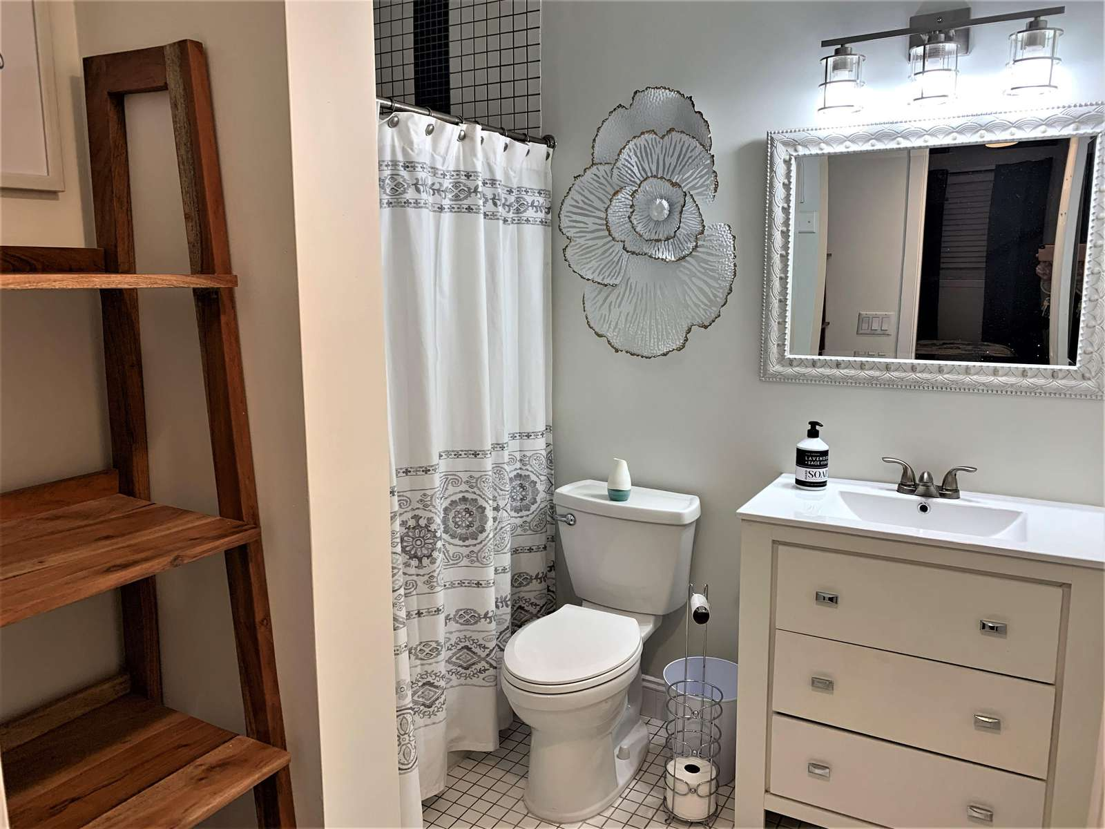 Master Bath with Tiled walk-in Shower