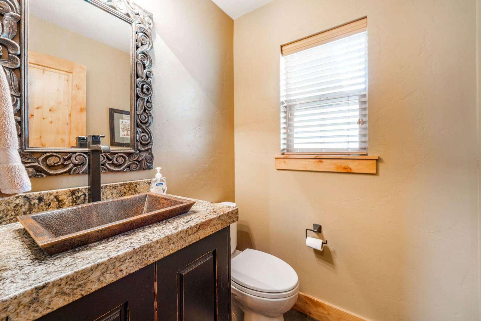 Half bathroom with window