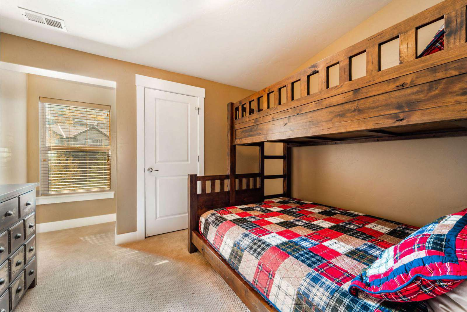 Bunkbed room with personal closet
