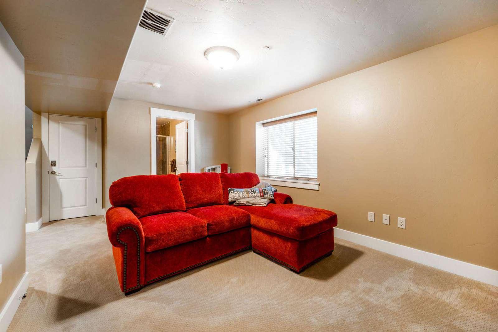 Bonus lounge room with sofa bed